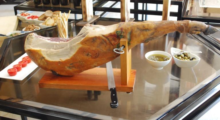 Beautiful leg of ham
