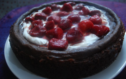 Chocolate cheesecake 4