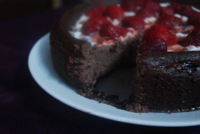 Chocolate cheesecake 6