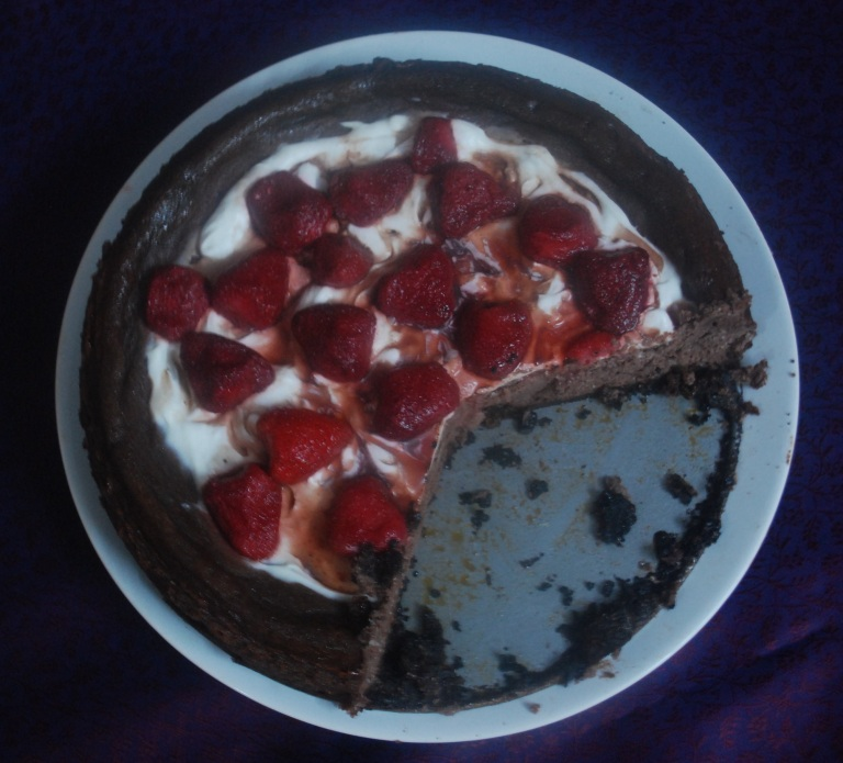 Chocolate cheesecake 8
