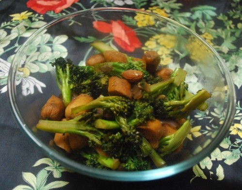 Broccoli sausage stir fry 1