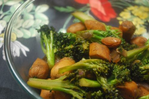 Broccoli sausage stir fry 2