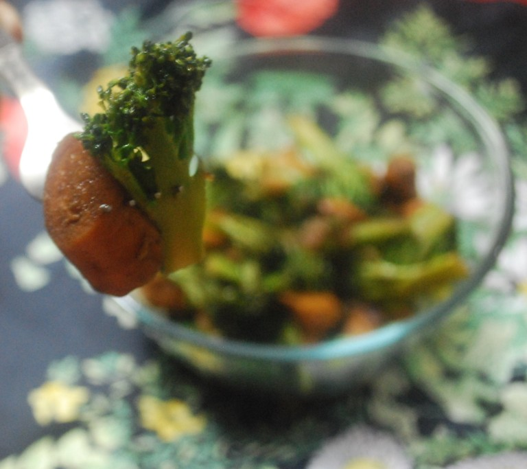 Broccoli sausage stir fry 4