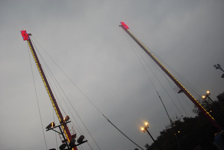 Reverse bungee jump
