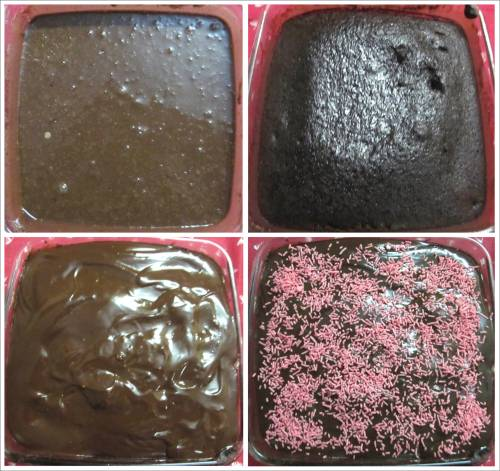 Lazy person's chocolate cake