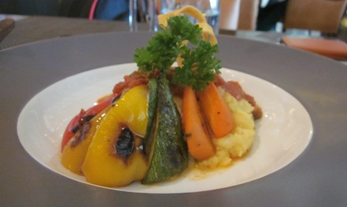 Polenta and veggies