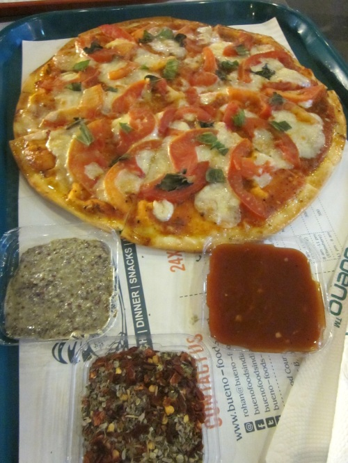 Tomato basil pizza
