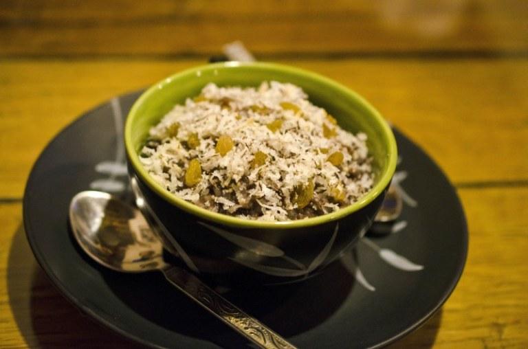 Wild rice dessert