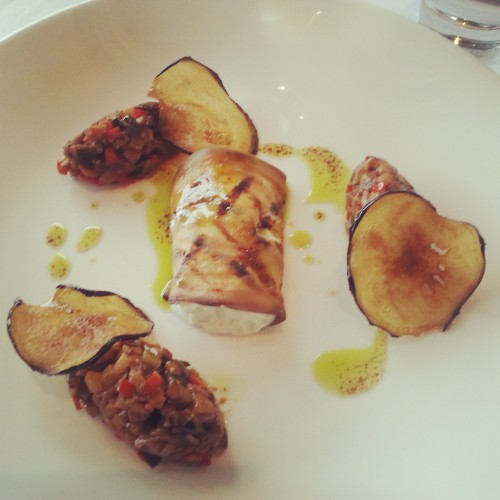 11. Aubergine chips with mushroom