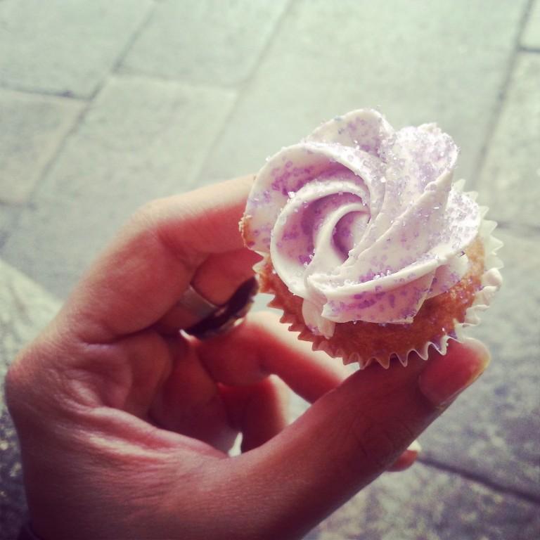 25. Lavender cupcake