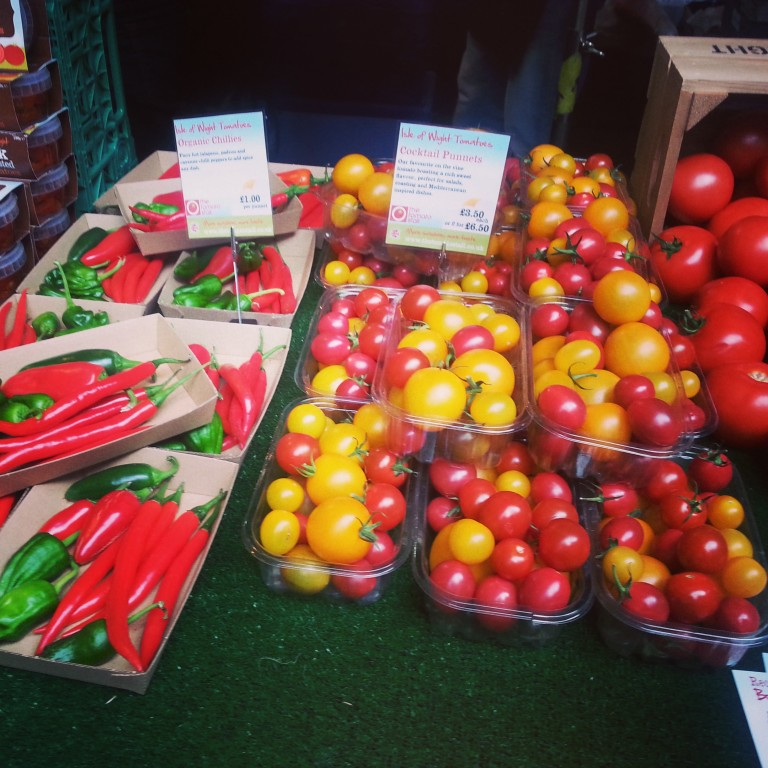40. Fresh tomatoes and chillies