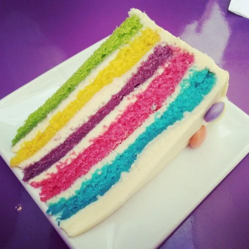 62. Rainbow cake