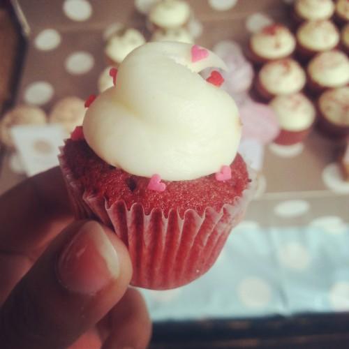 80. Red velvet mini cupcake