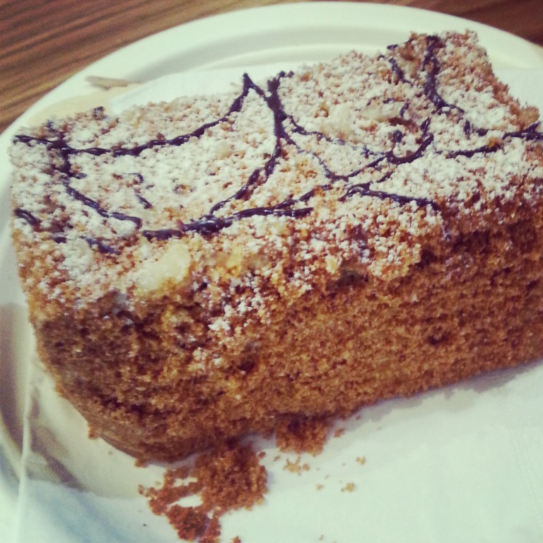 81. Walnut and honey cake