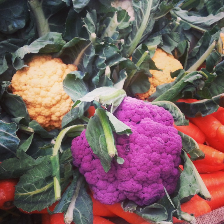 88. Purple cauliflower