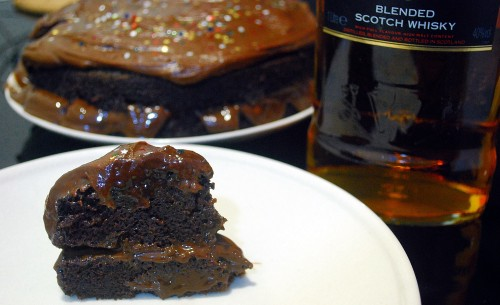 Triple whiskey cake 1