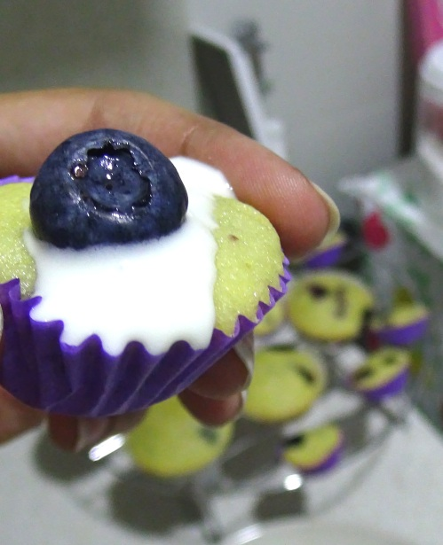 Blueberry cupcakes 1
