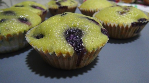 Blueberry cupcakes 5