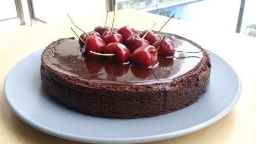 Chocolate rum cake 1