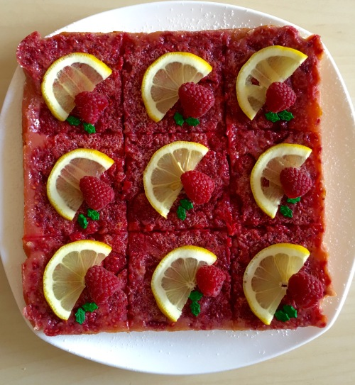 Raspberry Lemon bars 1